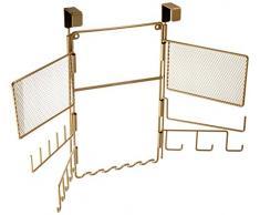 InterDesign Classico Schmuck Organizer | Schmuckständer zum Hängen über die Tür | Hängeaufbewahrung für Modeschmuck | Metall gold