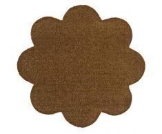 Hanse Home Waschbare Schmutzfangmatte Soft & Clean Caramel in Blumenform, 67x67 cm