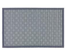 Wenko 22110100 Badematte Adria Unterseite rutschhemmend, Polypropylen, 50 x 80 x 1 cm, grau