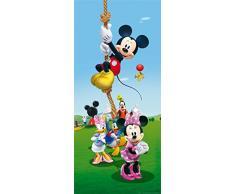 AG Design FTDv 1830 Mickey Mouse Disney, Papier Fototapete Kinderzimmer - 90x202 cm - 1 Teil, Papier, multicolor, 0,1 x 90 x 202 cm