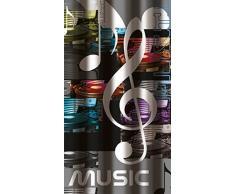 Musik 180Â x 200Â cm Dusche Vorhang + 12Â Haken