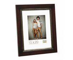 Deknudt Frames S42LF9-20.0X28.0 Bilderrahmen, Holz, 30 x 24 x 1,5 cm, Braun/Schwarz