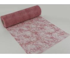 25 m x 30 cm Sizoflor® Vlies Original Tischband rosa Tischläufer für Hochzeit Taufe Verlobung Geburtstage