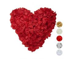 Relaxdays Rosenblätter 3000er Pack, Streudeko für Hochzeit, Valentinstag & Jahrestag, Rosenblüten künstlich, bordeaux