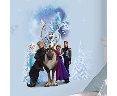RoomMates RMK2668GM RM - Disney Frozen Winterhelden Wandtattoo, PVC, Bunt, 48 x 13 x 2.5 cm