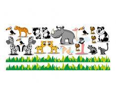 Graz Design 731009 Wandsticker Wandtattoo Kinderzimmer Zoo Tiere Set 22 Teile