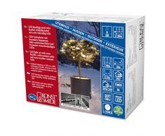 Konstsmide 6631-117 Micro LED Lichterkette / für Außen (IP67) / schutzisoliert/umgossen / mit 9h Timer / 80 warm weiße Dioden / schwarzes Softkabel