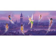 AG Design FTDh 0606 Fairies Disney Feen London, Papier Fototapete Kinderzimmer - 202x90 cm - 1 Teil, Papier, multicolor, 0,1 x 202 x 90 cm
