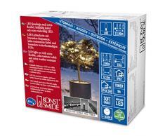 Konstsmide 6630-117 Micro LED Lichterkette / für Außen (IP67) / schutzisoliert/umgossen / mit 9h Timer / 40 warm weiße Dioden / schwarzes Softkabel