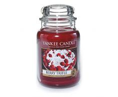 Yankee Candle 1342525E Duftkerze im Glas - Berry Trifle 623g, 10x9.8x13.9 cm, rot