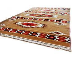 Damaskunst Neu,Sandy Braun,Rot,Braun,Weiß, Teppich 200 cm x 300 cm,Kelim Orient,Wand Teppich,Carpet, Rug, S 1-6-82