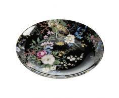 Maxwell & Williams WK01520 Kilburn Teller, Kuchenteller, Frühstücksteller, Midnight Blossom, 20 cm, in Geschenkbox, Porzellan