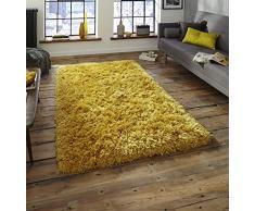 Think Rugs Teppich, gelb, 80 x 150 cm