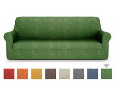 PETTI Artigiani Italiani - Sofaüberwurf, Sofabezug, Sofaüberwurf Grün, Sofabezug 3 Sitzer, Jacquard Stoff, 100% Made In Italy