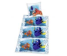 Herding 4622302050 Disneys Findet Dorie Bettwäsche, Baumwolle, blau, 135 x 200 x cm