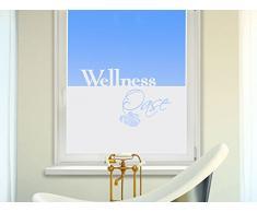 Graz Design 980117_80x57 Sichtschutzfolie Fenstertattoo Fensteraufkleber Deko für Badezimmer Wellness Oase Blatt Spa (Größe=80x57cm)