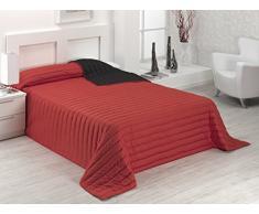 SABANALIA Tutto Tagesdecke Winter (erhältlich in verschiedenen Größen und Farben) Bettwäsche 135 – 230 x 270, rot/schwarz