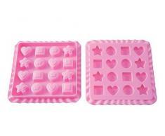 Unbekannt Silikomart 22.753.35.0169 EC03 Treats Sweet Backform für Bonbons, aus Silikon, Rosa