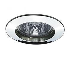 Paulmann 17946 Einbauleuchte Premium Line 51 mm Einbaustrahler Chrom Einbaulampe max. 1x50W Einbaulicht Niedervolt 12V Einbauspot GU5,3 Außen Deckenleuchte, Aluminium, GU5.3, Silber