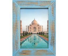 Henzo 8143407 India Bilderrahmen, Holz, blau, 40 x 30 x 1.5 cm