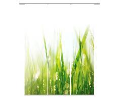 Home fashion 88965-168 grün PLYMOUTH Digitaldruck Schiebevorhang 3-er Set, Stoff, grün, 245 x 60 x 245 cm