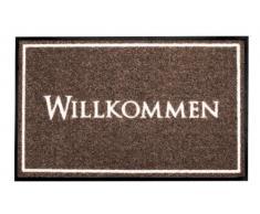 YOUNG GENERATION Shoe-Max YH 101415 W Everclean Fussmatte Willkommmen Frame 44 x 75 cm, Wood/hell grau