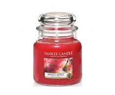 Yankee Candle Classic Housewarmer Mittel, Sweet Apple, Duftkerze, Raum Duft im Glas / Jar, 1304332E