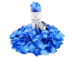 (Getrennt, Desodoriert) Künstliche gefälschte Rosenblätter für Romantische Nacht, Hochzeit, Event, Party, Dekoration, in loser Schüttung (1000 Count, Blau Verlaufend)