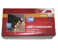 Hellum 563511 LED-Energiespar Lichterkette Mini warm-weiß, 50-teilig, Gesamtlänge 10,35 m, für Innen
