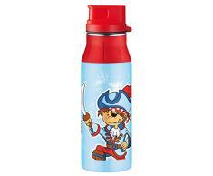 Alfi 5377147060 Trinkflasche Element Edelstahl, (0,6 Liter) pirates blau
