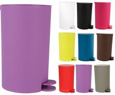 MSV Kosmetikeimer Osaki Mülleimer Treteimer Abfalleimer - 3 Liter - mit herausnehmbaren Inneneimer - Violett