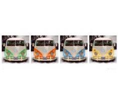 Volkswagen - VW Bus - 4 Camper Türposter Türposter Auto Klassiker VW - Grösse 158x53 cm