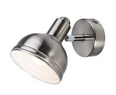 Nino Leuchten Deckenleuchte, Metall, Silber, 13 x 10 x 10 cm