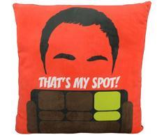 The Big Bang Theory 0122077 Kissen Sheldon Cooper, That`s my Spot, Polyester, schwarz, 40 x 40 x 3 cm