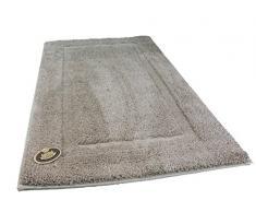 Gözze Badteppich, Mikrofaser Hochflorteppich, 60 x 100 cm, Rahmen, Sand, 1033-73-060100