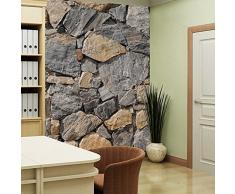 Walplus Vinyl-Wandaufkleber, Motiv: Granitwand, Selbstklebend, ablösbar, zur Dekoration von Wohnzimmer, Schlafzimmer, Kinderzimmer, 400x 280cm