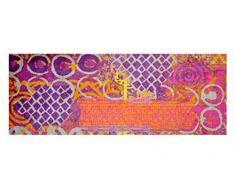 LifeStyle-Mat 200243 Alter Teppich, rutschfester und waschbarer Läufer, ideal für die Garderobe, Küche oder Schlafzimmer, 67 x 170 cm, violett