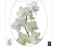 PLAGE 260207 Toiletten-Deckel Sticker Smooth, Orchide, 40 x 34 cm
