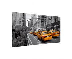 Apalis 108796 Magnettafel New York Memoboard Design Quer Metall Magnet Pinnwand Motiv Wand Stahl Küche Büro, 37 x 78 cm