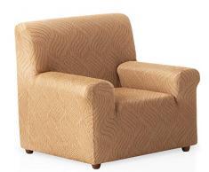 Bartali Stretch Sofahusse Aitana - Farbe Beige - 1 Sitzer (von 50 bis 90 cm)