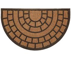 Fußmatte Kokos Struktur halbrund Design1
