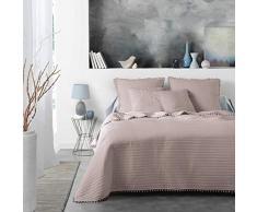 Douceur dIntérieur Dorinette Tagesdecke für Einzelbett, matt, Weiß, 180 x 220 cm, Nude, 240 x 260 cm