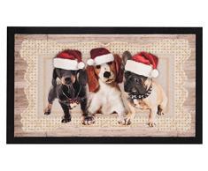 Hanse Home Fußmatte Schmutzfangmatte Weihnachtshunde II Braun, 45x75 cm