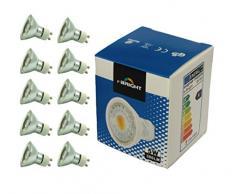 e-Bright 10er Pack LED Lampen, GU10 5W COB, 380LM 3000K A+, vgl. 50W Halogen, 230V