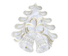 Weihnachtsdeckchen Glocke Weiß