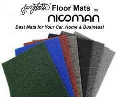 Nicoman Schmutzfänger Barrier Fußmatte schwere Bodenmatte - (Geeignet für Innen- und Schützen Außen) - Klein (60x40cm),Rot & Schwarz