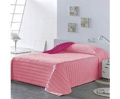 PETTI Artigiani Italiani Tagesdecken, Pink, Bettgröße 140 (240x260 cm)