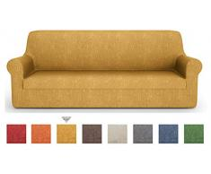 PETTI Artigiani Italiani - Sofaüberwurf, Sofabezug, Sofaüberwurf Gelb, Sofabezug 2 Sitzer, Jacquard Stoff, 100% Made In Italy
