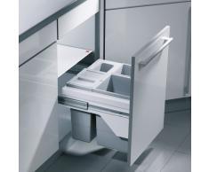 Hailo 3609501 Abfallsammler CB Slide 50.3/35 für Schränke mit 500 mm breitem Frontauszg, Plastik, grau, 46.8 x 40.3 x 38.7 cm