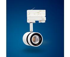 Mextronic 12W Neutralweiss led 3 phasen strahler für Schienensystem Schienen Strahler Schienen Leuchte